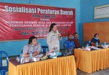 Komisi IV DPRD Lampung, Sosialisasikan Perda No 1 Tahun 2016 di Kecamatan Rumbia