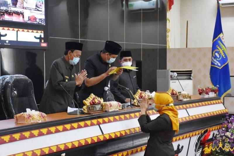 Paripurna DPRD Metro  Pemkot Diminta Kaji Besaran Modal Untuk Bank Lampung 03