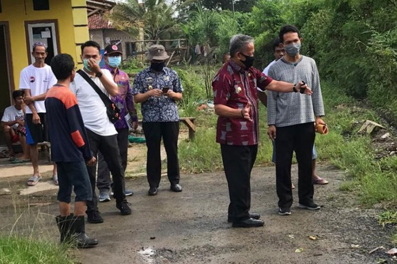 Wakil Walikota Metro Minta DPUTR Segera Perbaiki Tanggul Tersier Penyebab Banjir di Hadimulyo Barat