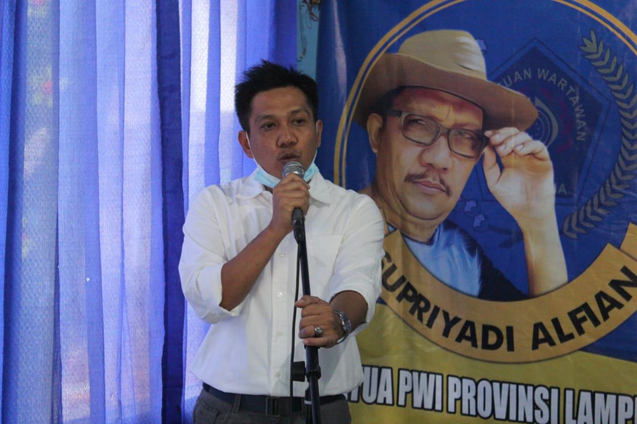 Konferkot ke-VI PWI Metro, Rino Panduwinata Terpilih Jadi Ketua PWI Metro Periode 2021-2024 01