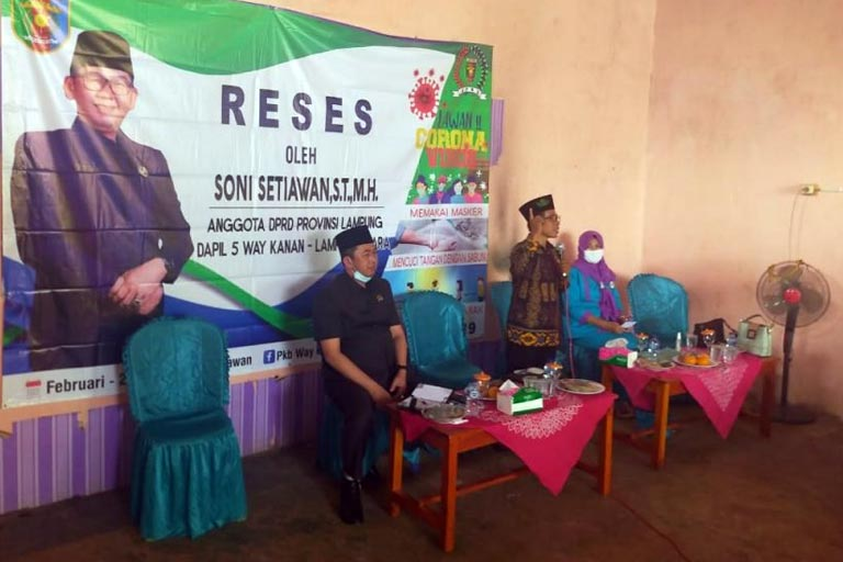 DPRD Lampung Gelar Reses Bersama Masyarakat Way Kanan
