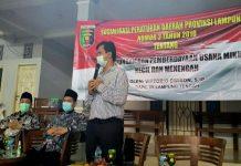 Gelar Sosialisasi Perda, Vittorio Dwison Dorong Pemberdayaan UMKM di Lampung Tengah
